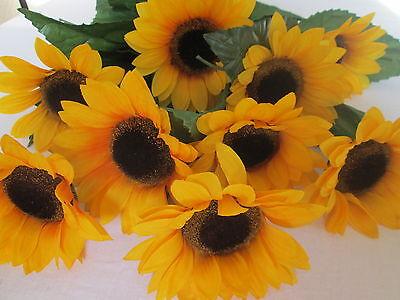 10x Deko Sonnenblume 74cm Künstliche Kunst Blumen Pflanzen Weihnachtsgeschenk