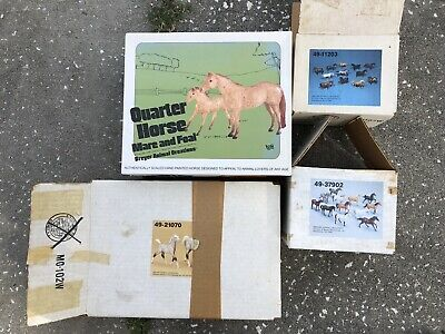Lot 4 Breyer Horse Boxes Vintage Sears Running JCPenney Stablemate Rosie Bailey