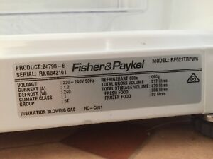 Fisher & Paykel fridge freezer near new!