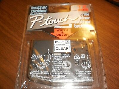Brother Tz-131 12 Black On Clear Touch Tape Genuine Tz131 Label