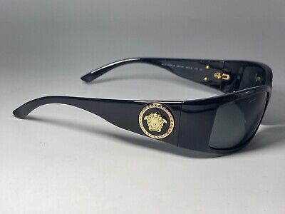 Versace Sunglasses Mod. 4205-B 61[]15 Medusa Crystals Gold Coin Black Wrap