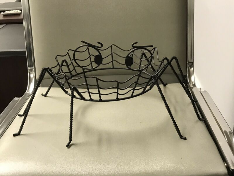Spider W/Web Body & Expressive Eyes, Wire Halloween Decor. Unique Item!