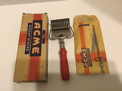 Twin-curl-cutter (THE ACME ROTARY MINCER RED HANDLE O/B &TWIN CURL CUTTER )