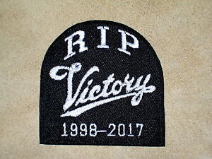 RIP VICTORY 1998-2017  Biker Vest Embroidered Patch, motorcycle,closing