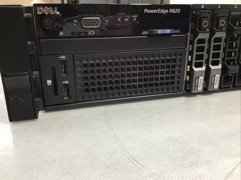 Dell PowerEdge R820 Server 4x E5-4640 2.20Ghz 64GB Ram H710 2x 300GB