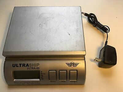 Digital Scale My Weigh Ultraship Electronic Postal Ultra 55 Lbs Silver W Power