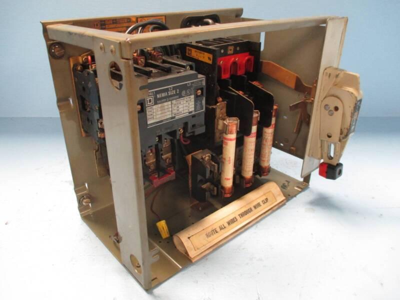 "Square D Mod Model 4 Sz2 60 Amp Fused 12"" Fusible MCC Bucket w/ Door Size 2 60A"