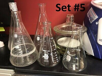 Lab Glassware Set Gelman Pyrex Kimax Erlenmeyerfilter Volumetric Flasks