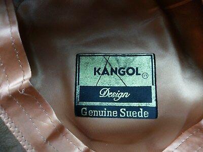 "Vtg 6 7/8"" KANGOL Genuine Suede Driving Cap Hat News Paper Boy Cabbie Tan Small for sale  Haymarket"