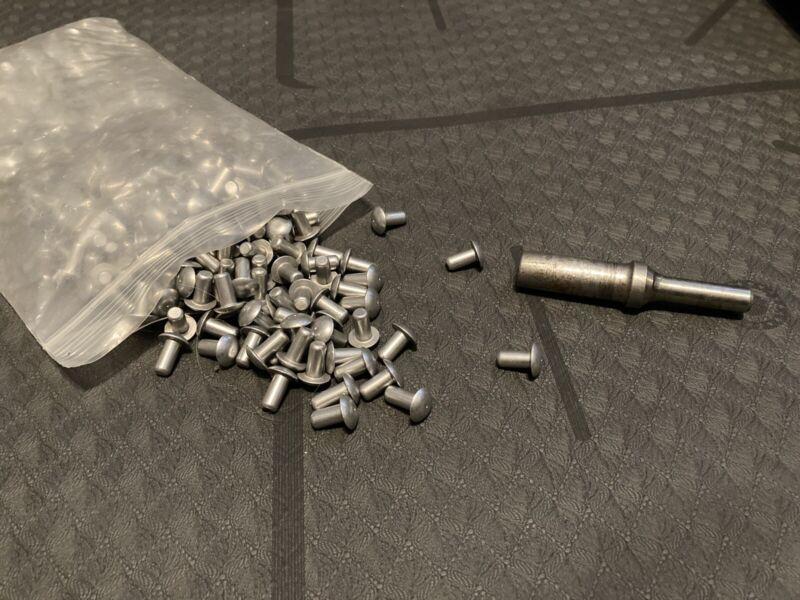 """325 1/4"""" Solid Aluminum Rivets With Rivet Set"""