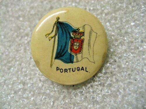/Portugal Pin Stick Pin National Flag button,1900s