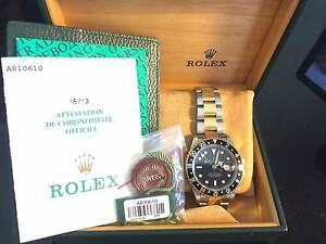 Rolex 18/SS GMT Master ll Gold-Thru Buckle 16713 model 2000's Tugun Gold Coast South Preview