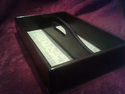 Antique Mahogany Divided Dovetail Cutlery Tray/carrier