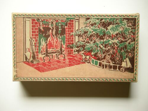 Vintage Messervey C6 Christmas Pine Cone Set - 1922 - Rare - Nelson Bros.