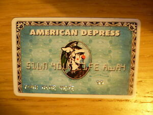 DFACE American Depress card