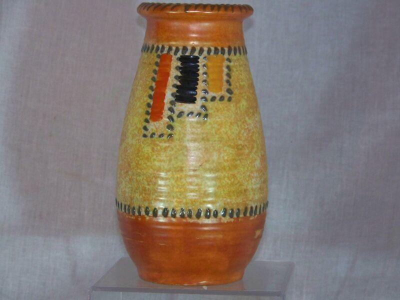 "*Charlotte Rhead**Crown Ducal* Art Pottery Art Deco Era""Patch & Stitch"" Vase"
