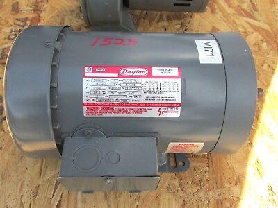 New Dayton 3 Phase Motor 1hp 1725 Rpm Cat 3n446c ... Whs-3-205