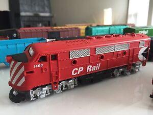 Locomotives et wagons de train H.O.