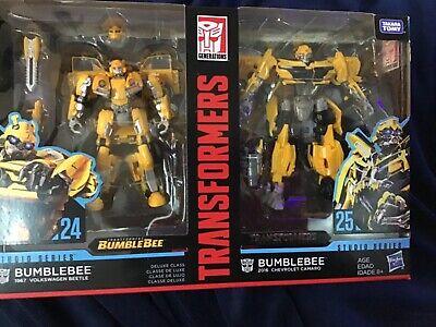 Hasbro Transformers Studio Series 24 & 25 Deluxe Class Bumblebee Pack of 2
