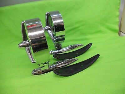 Vintage Yankee Pacesetter Tri Bar Mirrors Custom Cruiser Rat Rod