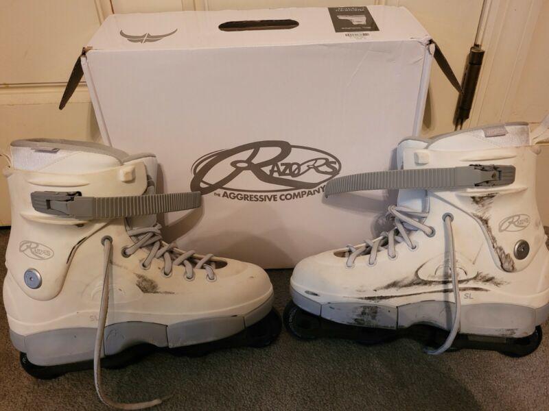 Razors SL Aggressive Inline Skates White Size 12