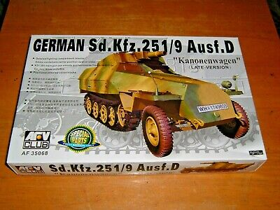 AFV CLUB Model Sd.Kfz.251/0 Ausf.D KANONENWAGEN LATE VERSION Kit AF 35068
