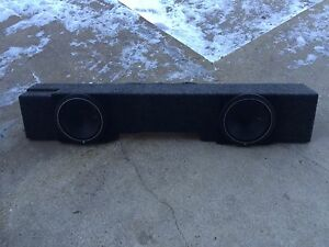 "Sub box with 10"" Rockford Fosgate subs"