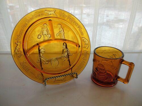 Tiara Indiana Glass Amber Child