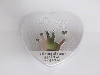 C.R. Gibson Baby Heart Shaped My Tiny Hand Print Kit in a Silver Box - - Heart Handprint