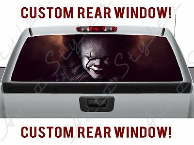 Rear Window Movie Scary Clown Haunted Pickup Halloween Float IT Truck Perforated (Halloween Cartoons Political)