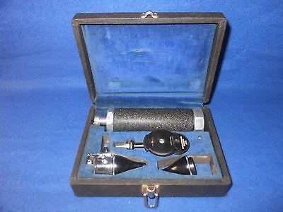 Vintage Friston - Gowllands Otoscope Ophthalmoscope Medisco Combination Set