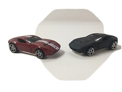 LOT OF 2 ~ Hot Wheels Ford Shelby GR-1 Concept Black Red ~ LOOSE