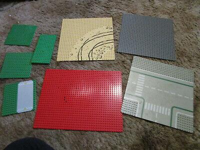 Lot of 8 Lego Plastic Base Plates desert, street, gray