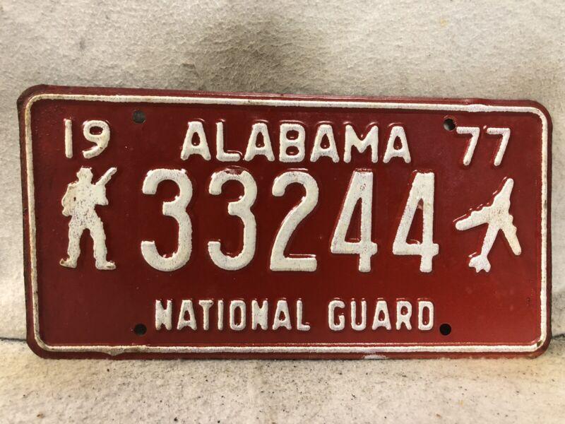 1977 Alabama National Guard License Plate