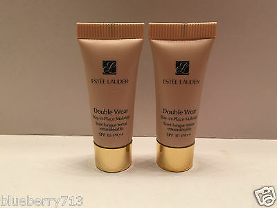 2 x  Estee Lauder Double Wear Stay-in-Place Makeup  SPF 10 / 1W2 Sand 5ml*2=10ml