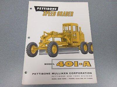 Rare Pettibone Speed Grader 401-a Sales Sheet