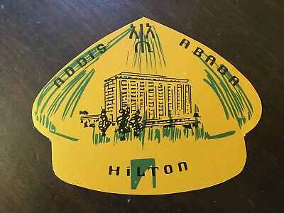 Addis Ababa Hilton Unused Vintage Luggage label,
