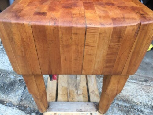 Gorgeous! Reconditioned Dovetail Authentic Butcher Block Table 80-100yrs old