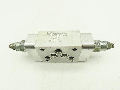 Sun Hydraulics C B D Manifold Sandwich Valve Block W2 9bh9 Rpec Lan Relief Valv