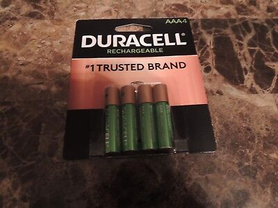 4/pack Duracell AAA Rechargeable Batteries AAA4