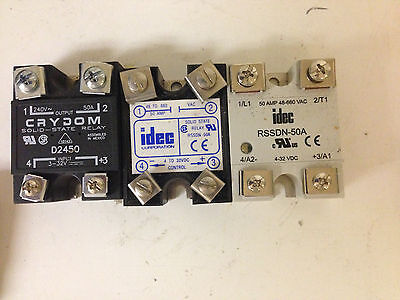Crydom D2450 Solid State Relay Ssr 50a Or Idec Rssdn-50