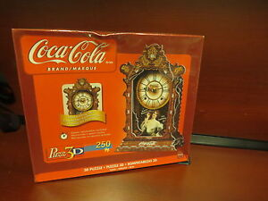 Coca-Cola Real Working Clock, 250 Piece 3D Jigsaw Puzzle Made by