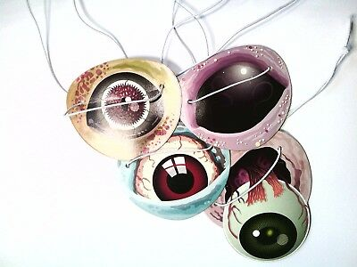 Zombies Alien 8 Paper Eyepatches -Toys Halloween Prizes  Pack Loot Bags Monster - Halloween Toys Bulk