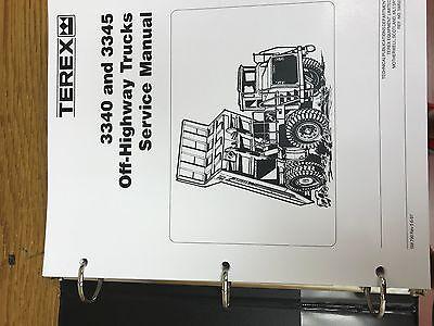 Terex 3340 3345 Off Highway Trucks Shop Repair Service Manual