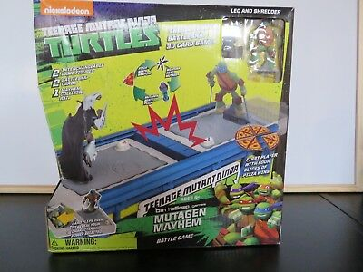 Teenage Mutant Ninja Turtles MUTAGEN MAYHEM BATTLE GAME Age 4+ Leonardo+Shredder