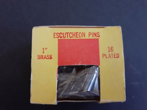 "Escutcheon Pins 1"" Brass New Vintage Plastic Torn So a Few May be Missing"