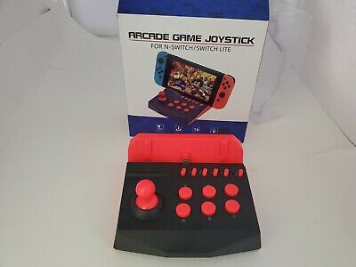 NEW Black & Red Turbo Arcade Joystick Controller Charging for Nintendo Switch 2G