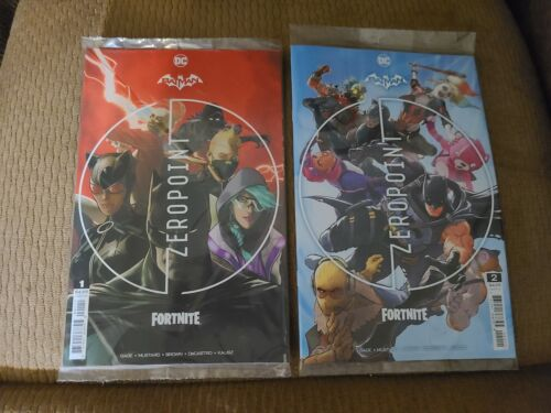 Batman Fortnite Zero Point #1 & 2 CVR A Sealed with Code (DC, 2021) NM
