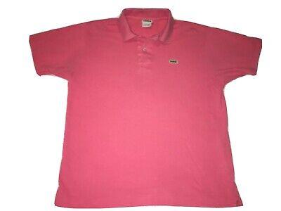 LACOSTE Men's Polo Shirt Pink Size 4 (Medium) Alligator Logo VTG Button Up Prep