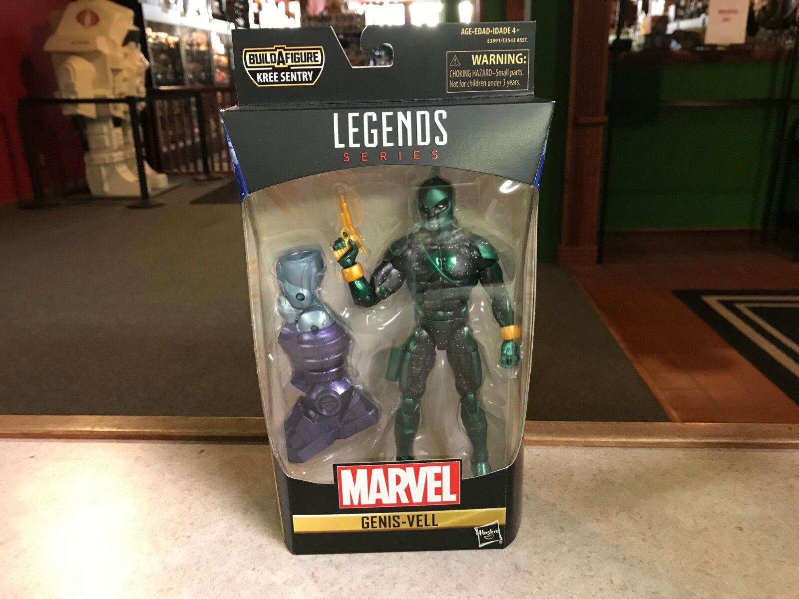 "Marvel Legends Genis-Vell Captain Marvel Kree Sentry BAF Series 6/"" Loose Figure"